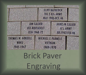 Brick Paver Engraving